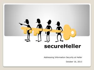 Security Awareness - Heller School for Social Policy and Management
