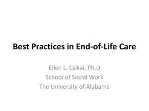 Best Practices in End-of-Life Care - National Association of Social