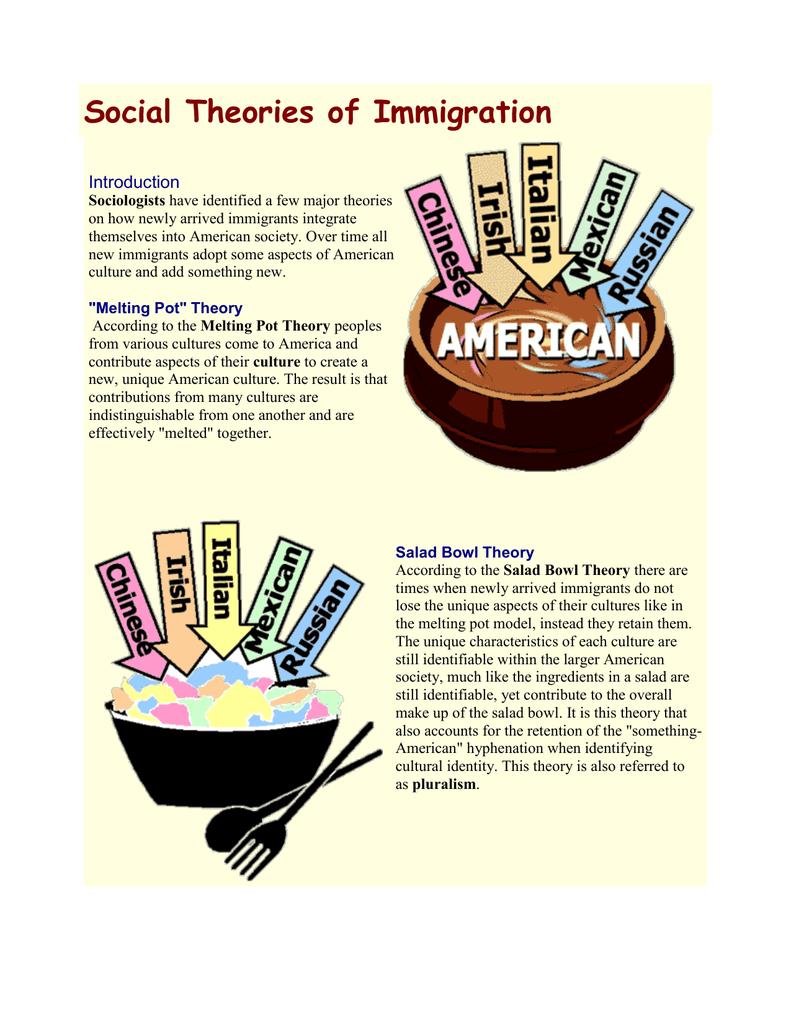 melting pot and salad bowl theory
