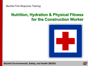 Bechtel Environmental, Safety, and Health (BESH)