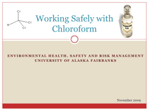 Working Safely with Chloroform - University of Alaska Fairbanks