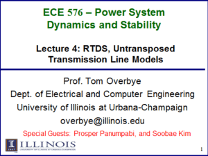 RTDS for Power Systems Simulation - University of Illinois at Urbana