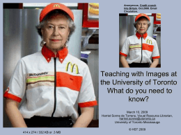 Teaching with Images: What do you need to know?