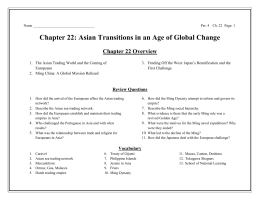 Asian Transitions in an Age of Global Change Chapter 22 Overview