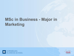 MSC in Strategic Marketing Management