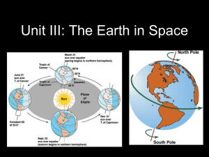 Earth in Space - White Plains Public Schools