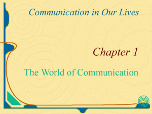 The World of Communication