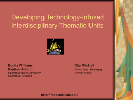 Developing Technology-Infused Interdisciplinary Thematic Units