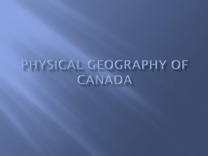 Physical Geography of Canada