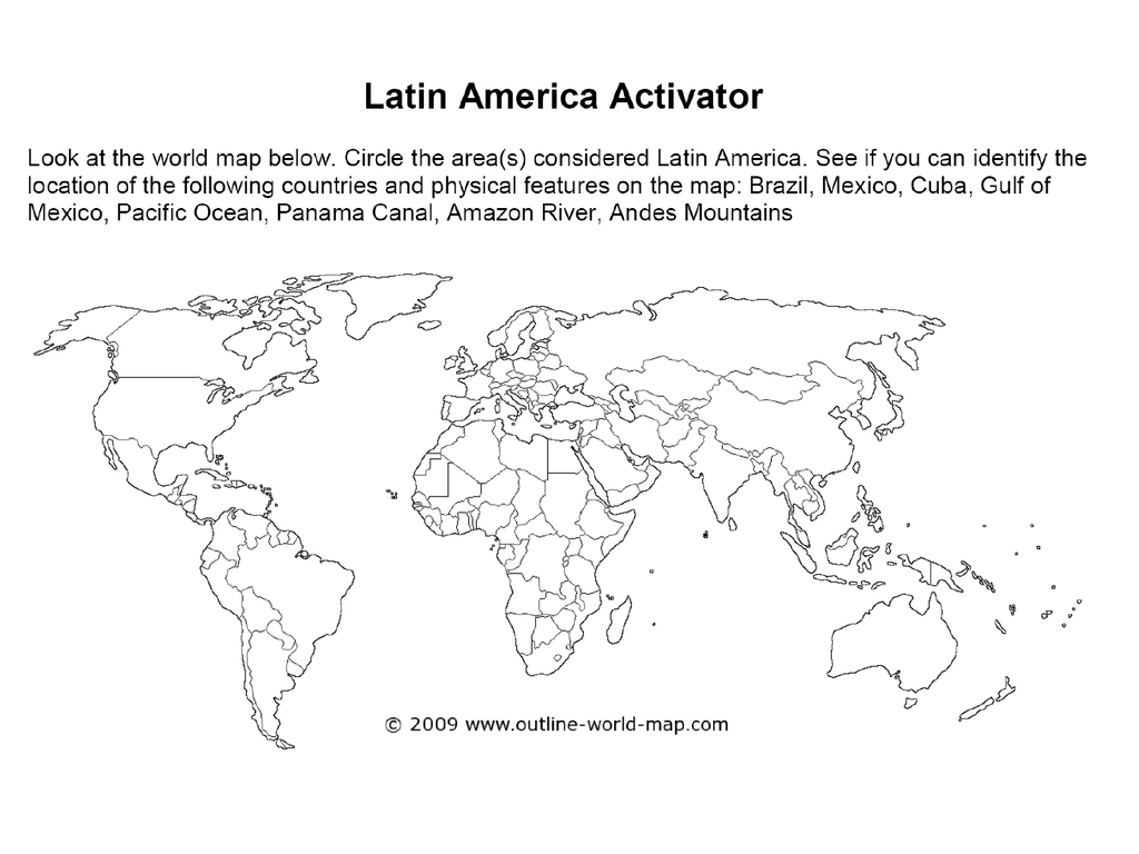 Latin America Physical and Political Features ppt
