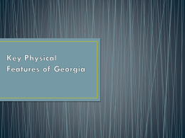 Key Physical Features of Georgia ppt