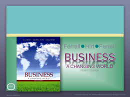 CHAPTER 5 Small Business, Entrepreneurship, and Franchising