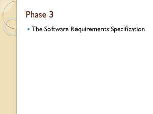 The Software Requirements Specification