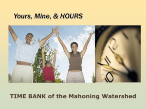 TimeBank M.W. PowerPoint Introduction