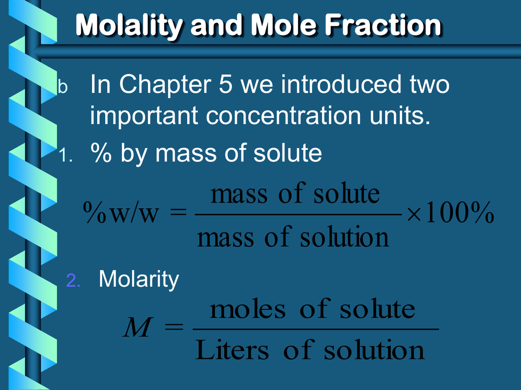 Solution Chemistry Powerpoint