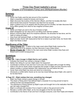 three day road essay Three day road essay page content this is the essay which won the three day road essay contest run by the faculty of applied and professional studies with generous sponsorship from ontario.