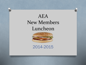 AEA New Members - Arlington Education Association