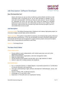 Entry level Software Developer - Second Avenue | Reimagine