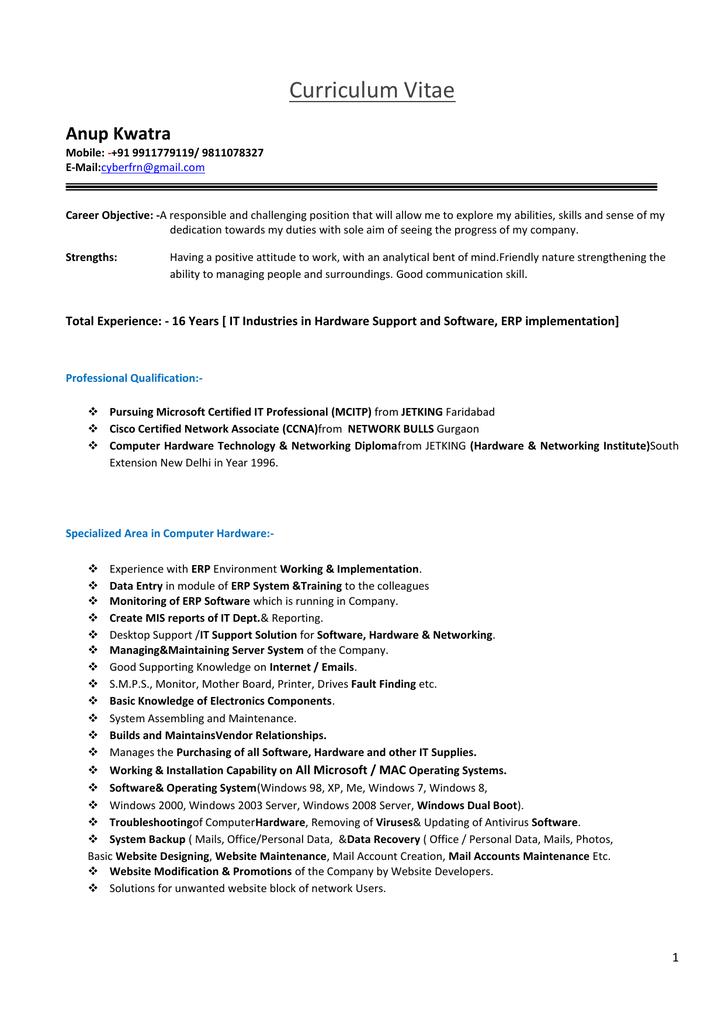 Resume - SRS International School