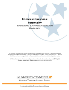 Personality - MTAS - University of Tennessee