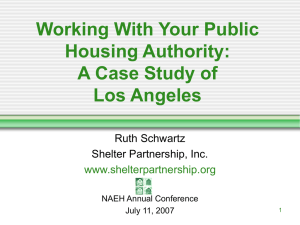 Working With Your Public Housing Authority: A Case Study of Los