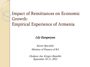 Armenia: Structure of Remittances