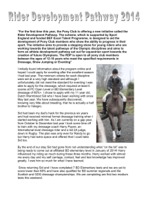 Caitlin and Sid's experience in the PC Rider Development Pathway
