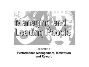 Managing and Leading People in High Performance