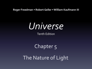 The Nature of Light Chapter 5 PowerPoint