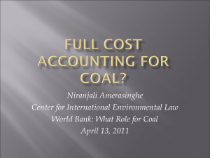 Full Cost Accounting for Coal?