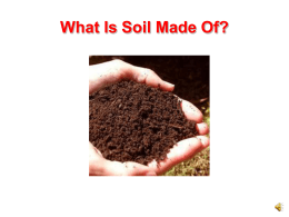 Soil formation worksheet for Soil 8 letters