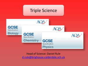 Triple Science