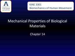 Mechanical Properties of Biological Materials