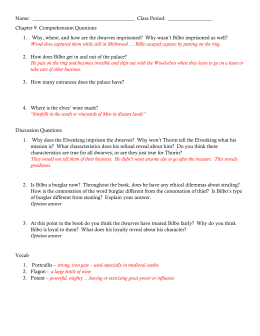 Hobbit study guide - comp questions with answers
