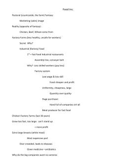 food  inc  wsfood inc  notes