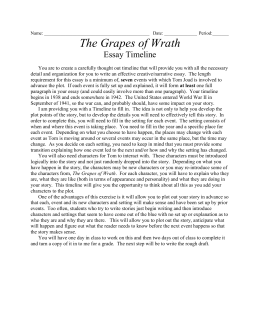 narrative essay doc the grapes of wrath