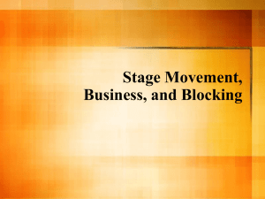 Basic Stage Movement and Business - Parkway C-2