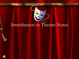 Intro to Theatre Powerpoint
