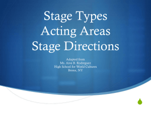 Stage Directions Acting Areas