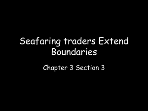 Seafaring traders Extend Boundaries