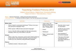 Subject: Visual Literacy / Digital Texts / Persuasive