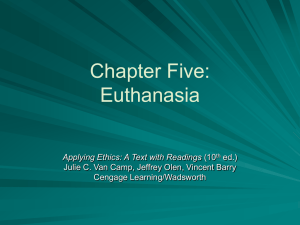 Chapter Five: Euthanasia