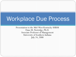 Due Process - University of Southern Indiana