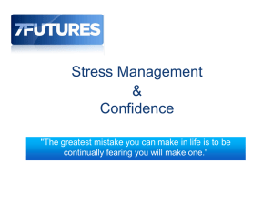 Stress Management & Confidence