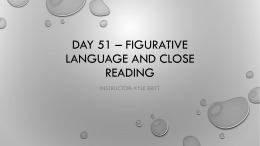 Day 51 * Figurative language and close reading