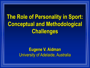Personlatiy Introduction LEcture - American Board of Sport Psychology
