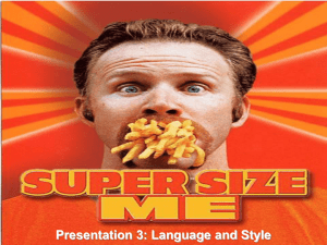 supersize me language and style