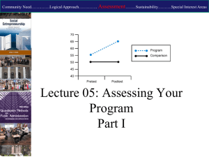 2014-Lecture 05 Part 01 Assessing Impact