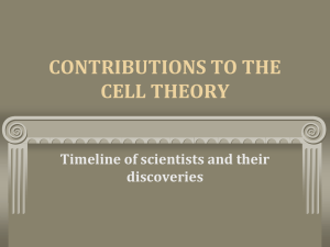 contributions to the cell theory