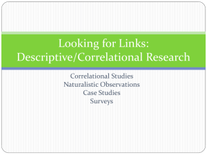 Looking for Links: Descriptive/Correlational Research